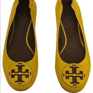 Tory Burch Yellow Reva Flats